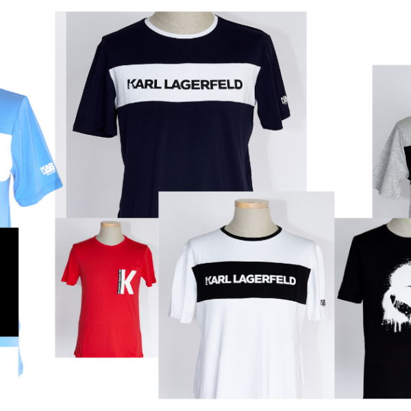 karl lagerfeld men t-shirts outlet stock clothes stok drabuziai didmena